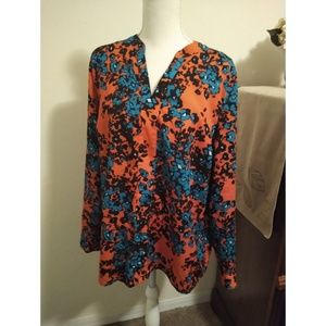 Size XL The Limited red floral top